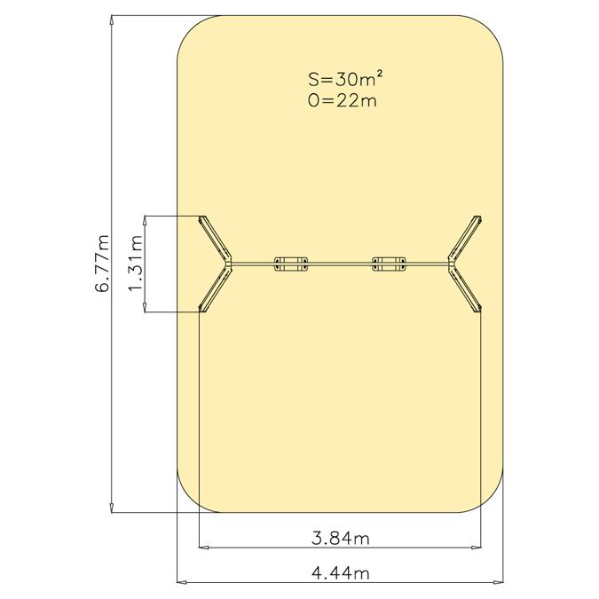 Závěsná houpačka 1M - sedátka