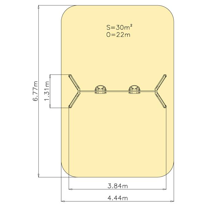 Závěsná houpačka 1M - křesílka
