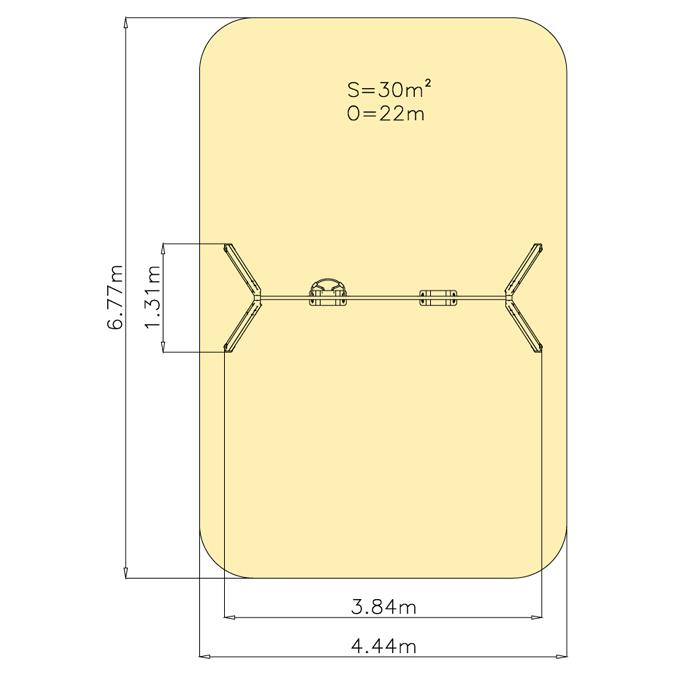 Závěsná houpačka 1M - 1+1