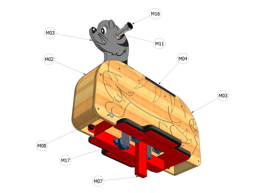Kyvadlová houpačka BOX