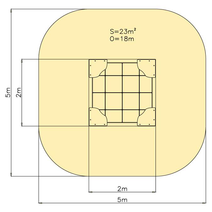 Pískoviště 2 m x 2 m - dno dlažba