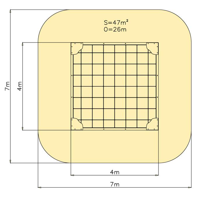 Pískoviště 4 m x 4 m - dno dlažba
