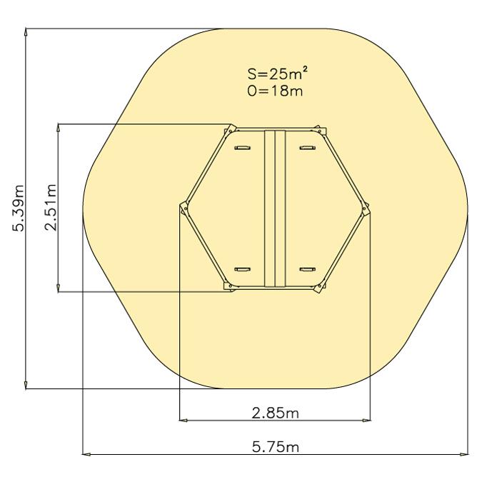 Kryté pískoviště 6hr - pouze rám