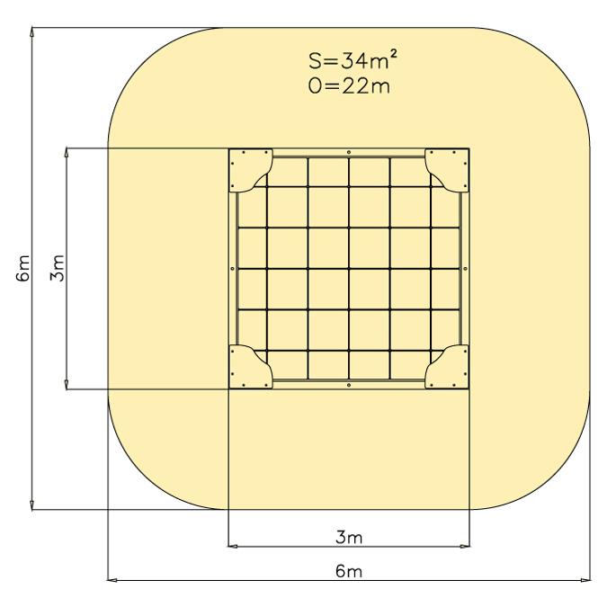 Pískoviště 3 m x 3 m - dno dlažba