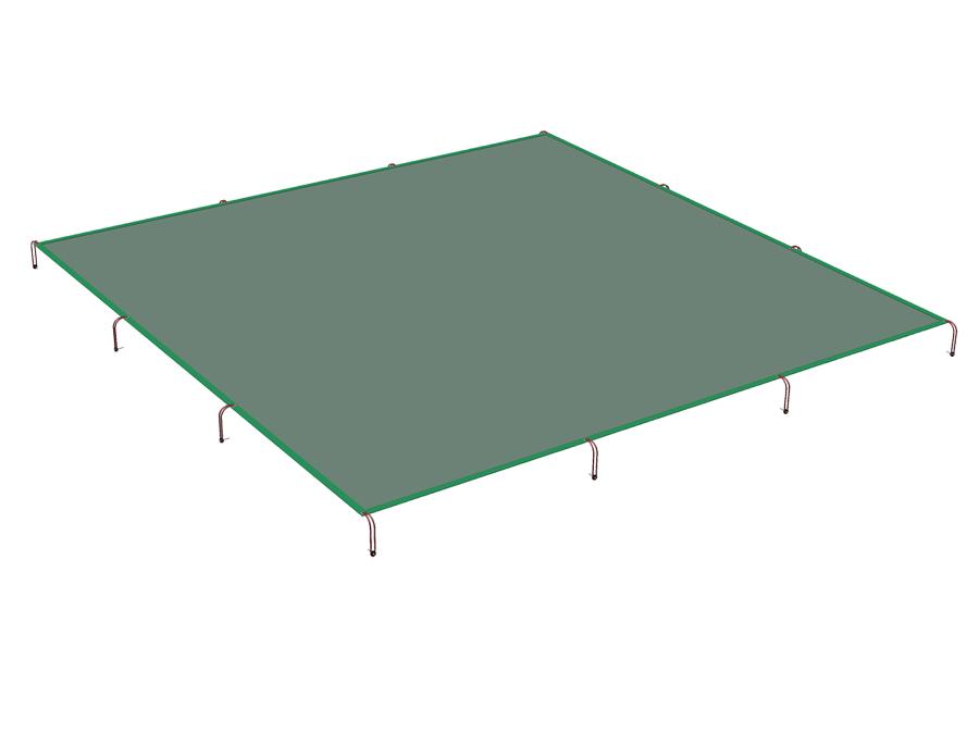 Plachta na zakrytování pískoviště 4 m x 4 m