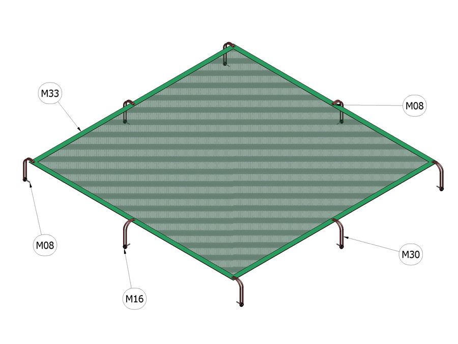 Plachta na zakrytování pískoviště 2 m x 2 m