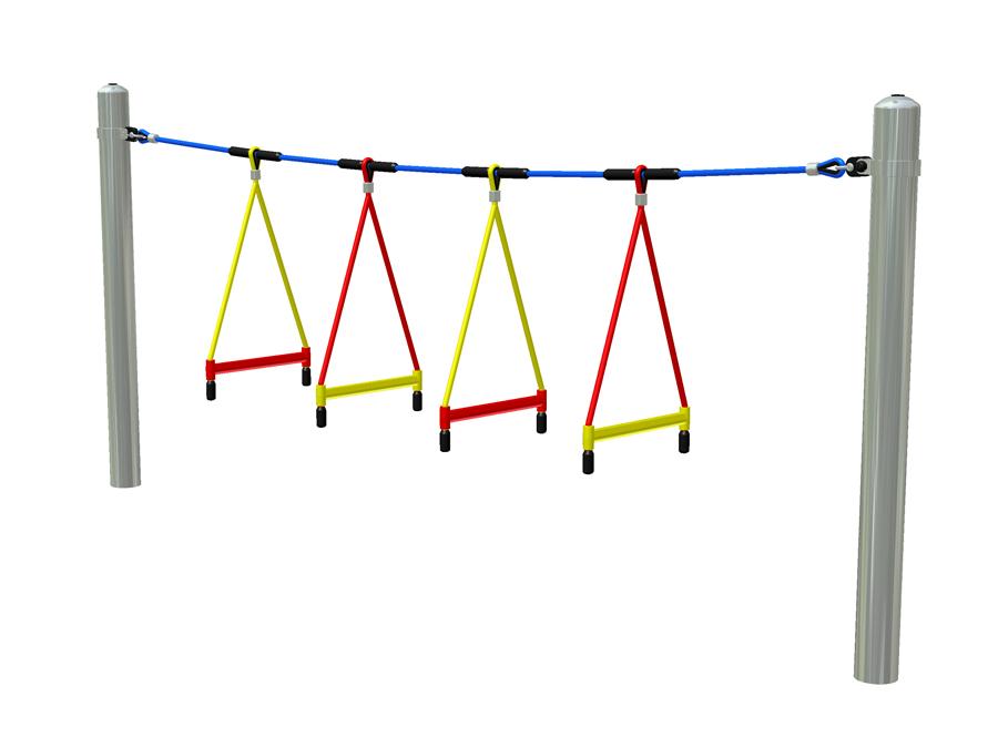 Příčle provazového žebříku