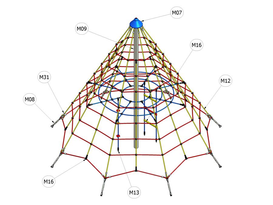 Lanová pyramida 1500