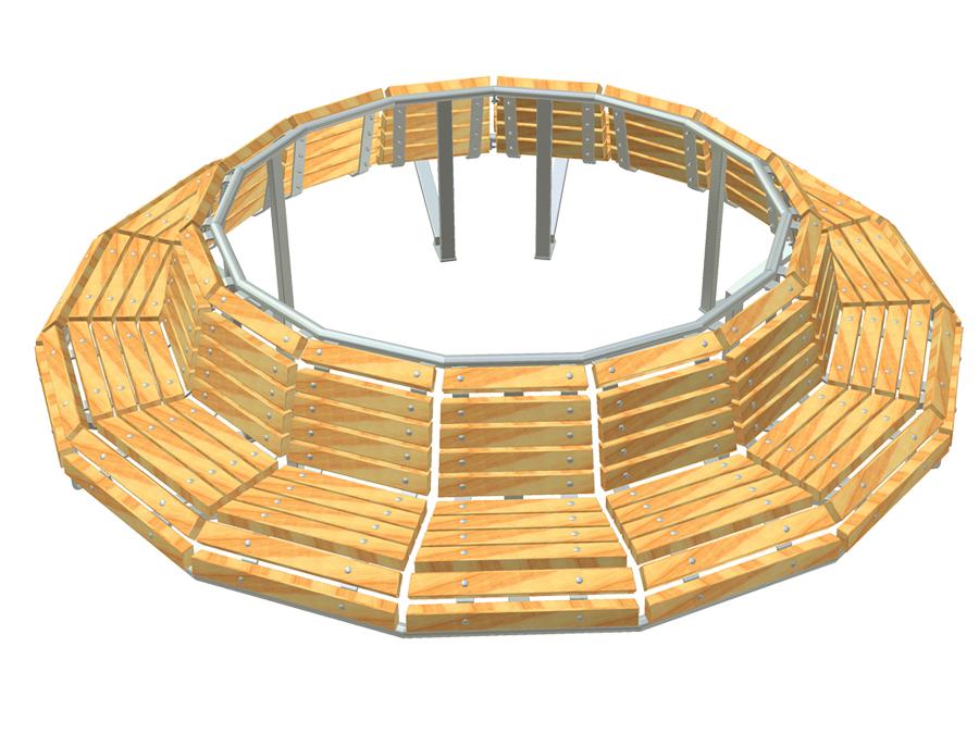Lavička kruhová 15n