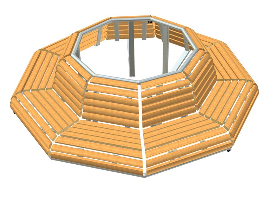Lavička kruhová 9n