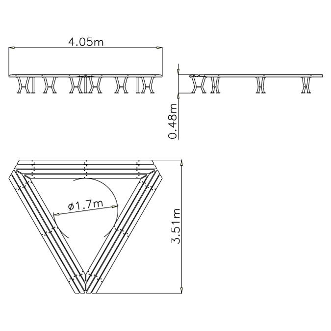 Lavička trojúhelníková