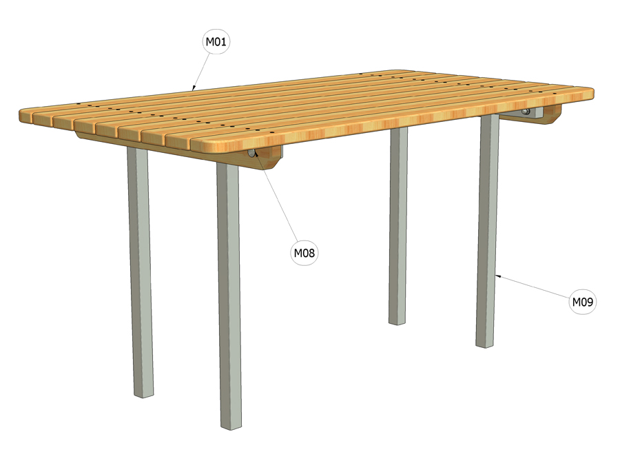 Stůl parkový